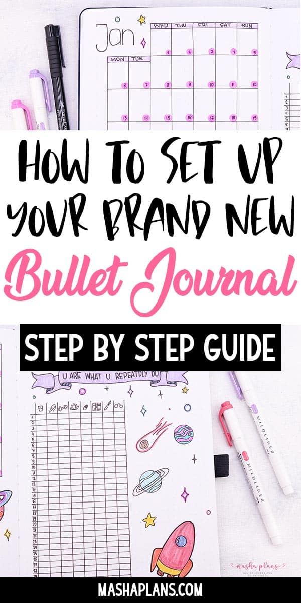 How To Set Up A Bullet Journal: Step By Step Bullet Journal Setup Guide | Masha Plans