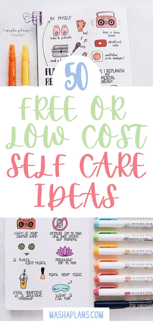 50 Ideas For Your Self Care Routine | Masha Plans