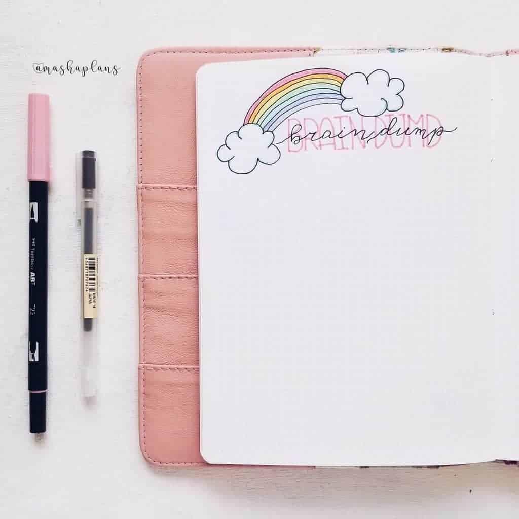 Unicorn Bullet Journal Theme - brain dump | Masha Plans