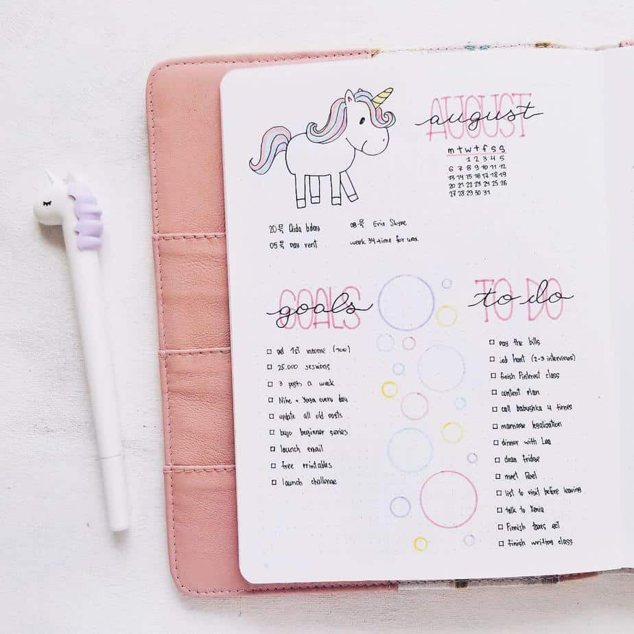 100 bullet journal page ideas to organize your life masha plans. Black Bedroom Furniture Sets. Home Design Ideas