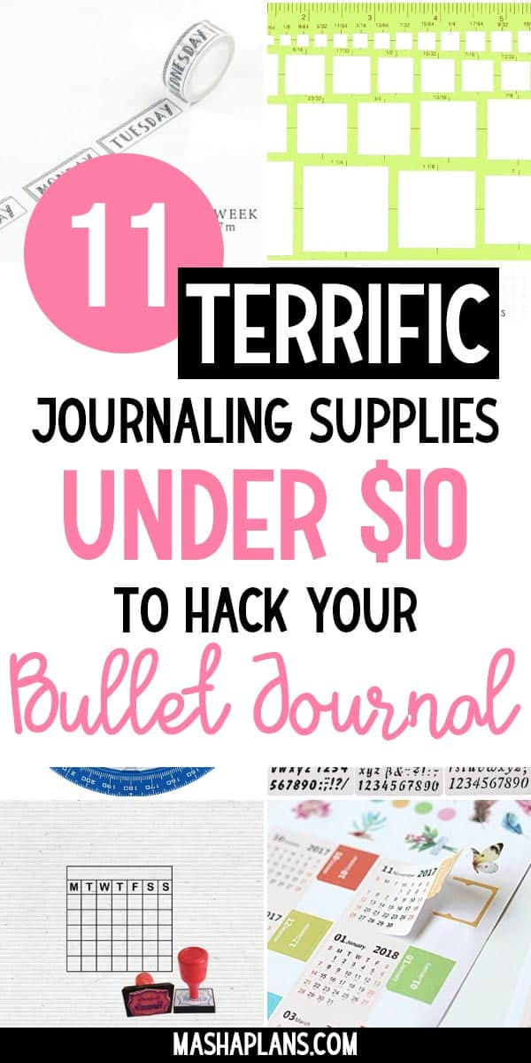 11 Terrific Supplies Under $10 To Hack Your Bullet Journal | Masha Plans