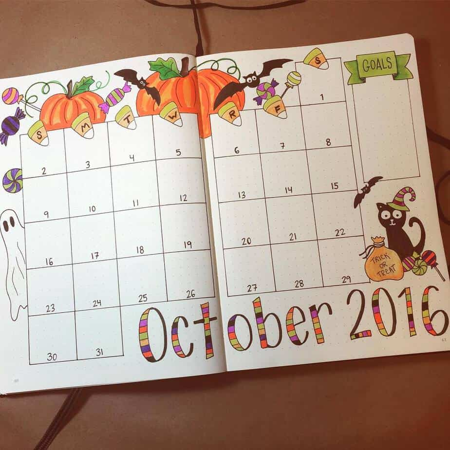 15 Stunning Fall Bullet Journal Theme Ideas, spread by @planyourplanner | Masha Plans