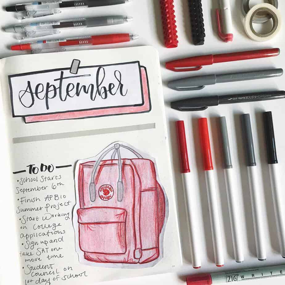 15 Stunning Fall Bullet Journal Theme Ideas, spread by @studychase | Masha Plans