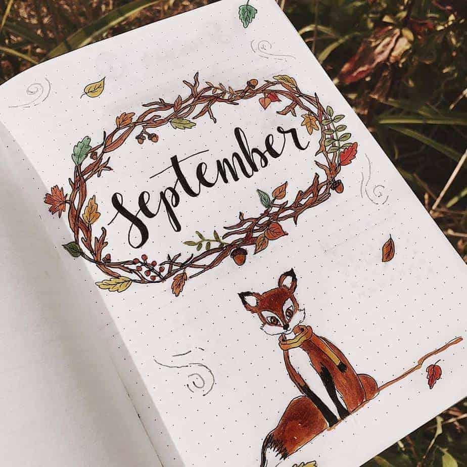 15 Stunning Fall Bullet Journal Theme Ideas, spread by @cozydaydreams | Masha Plans