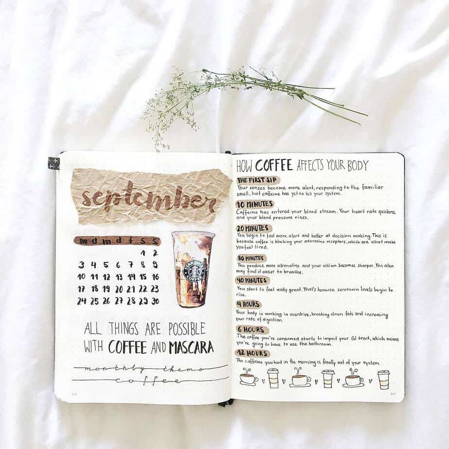 15 Stunning Fall Bullet Journal Theme Ideas, spread by @bujowithjo | Masha Plans@
