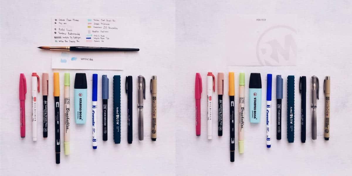 Rhodium Mines Dot Grid Notebook Review - pen test | Masha Plans