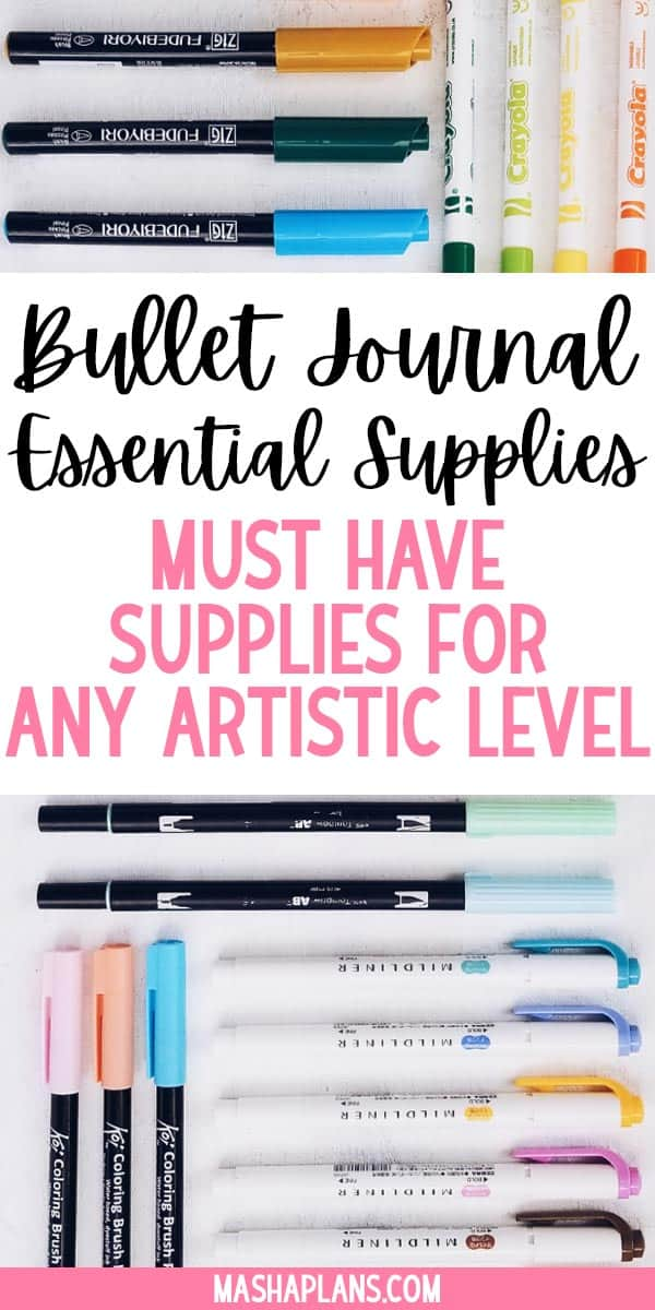 Bullet Journal Essentials: Must Have Supplies For Beginners | Masha Plans