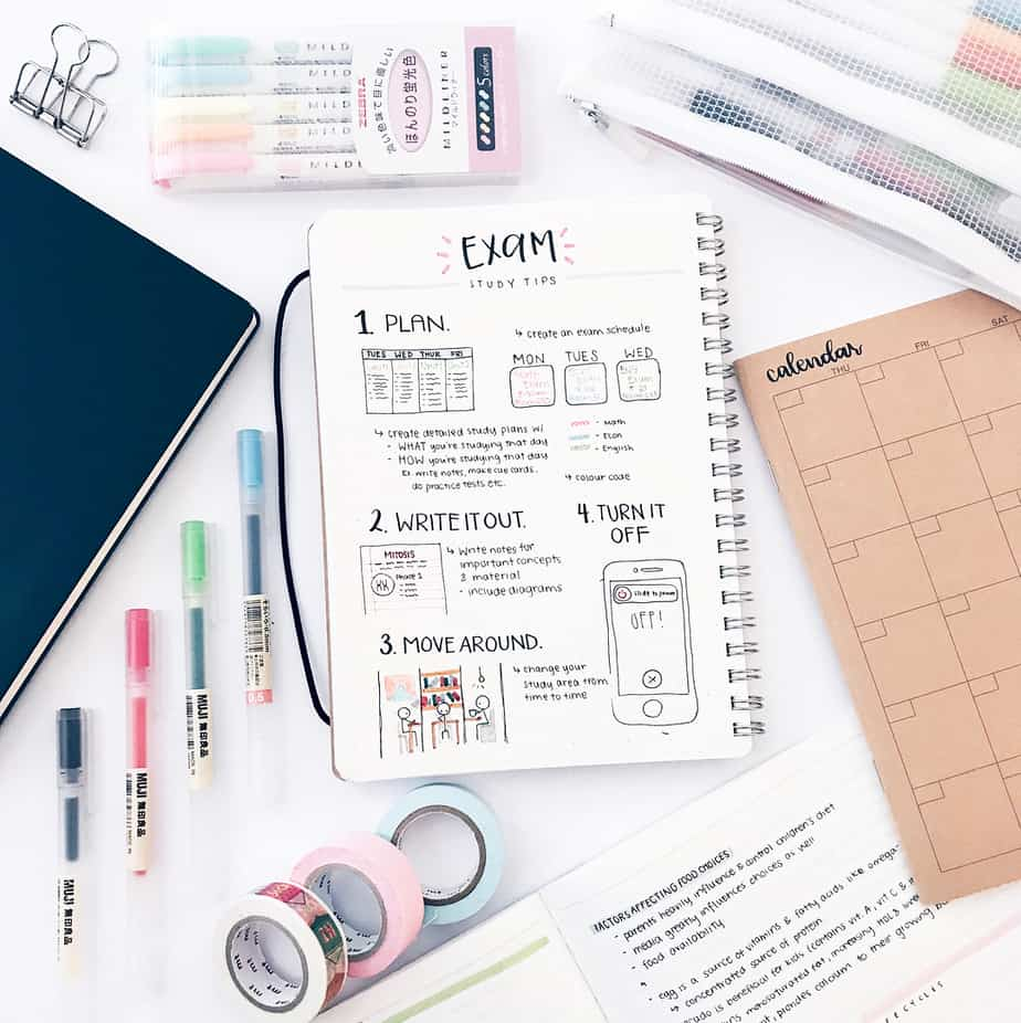 Bullet Journal Page Ideas For School, spread by @study.duoo | Masha Plans