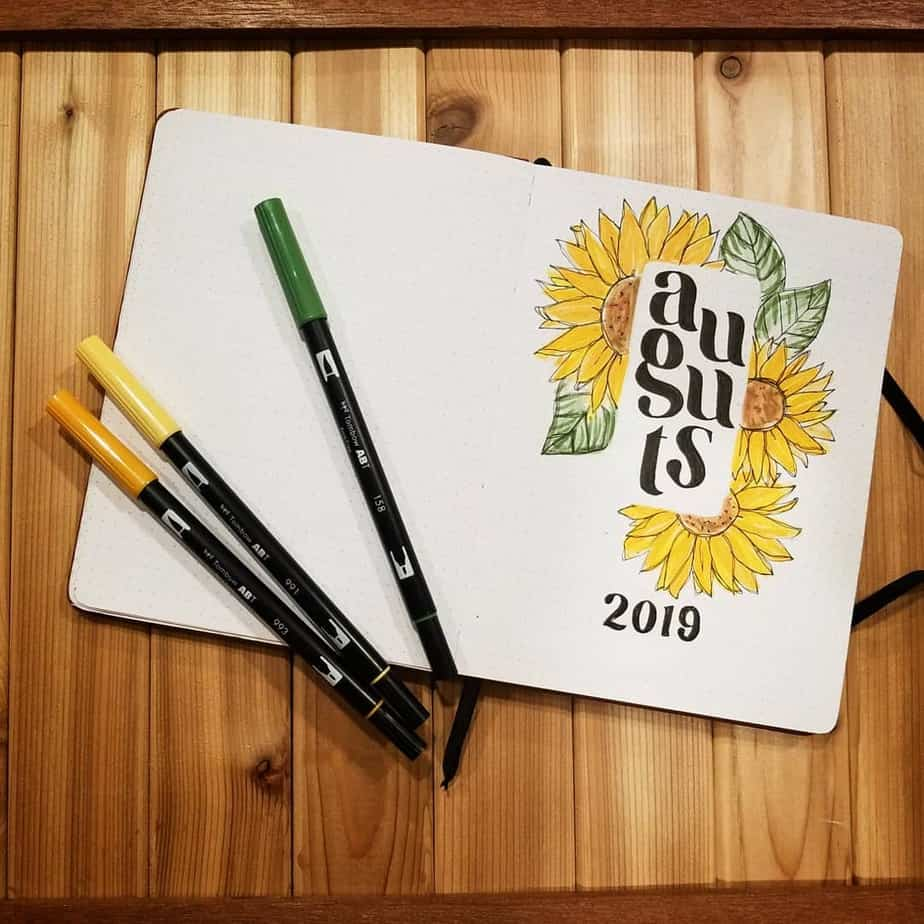 Summer Bullet Journal Theme Ideas - cover page by @2ndplacetrophywife | Masha Plans