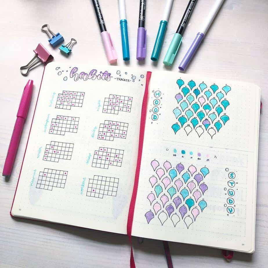 Bullet Journal Page Ideas For School, spread by @sleepybullet | Masha Plans