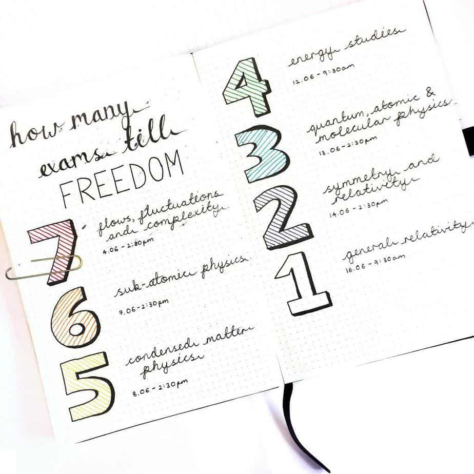 Bullet Journal Page Ideas For School, spread by @mai.plan | Masha Plans