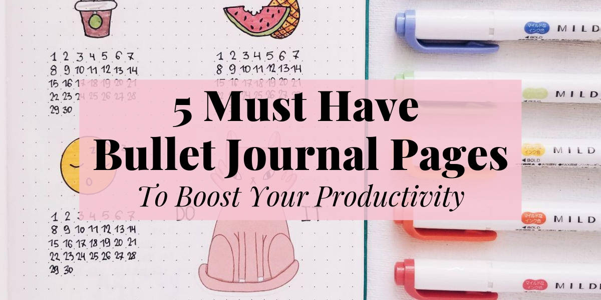 5 Must Have Bullet Journal Productivity Spreads | Masha Plans