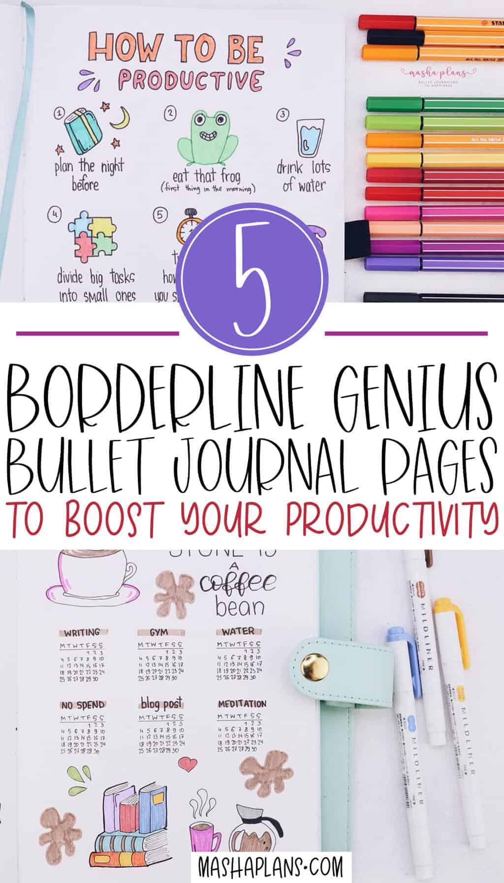 Productivity Bullet Journal Spreads | Masha Plans