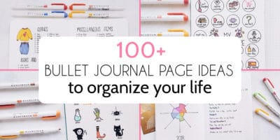 100+ Bullet Journal Page Ideas To Organize Your Life | Masha Plans