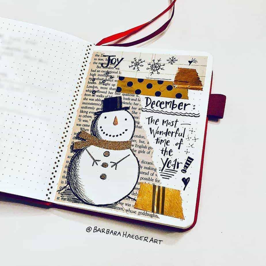 Winter Bullet Journal Theme Ideas - cover by @barbarahaegerart | Masha Plans