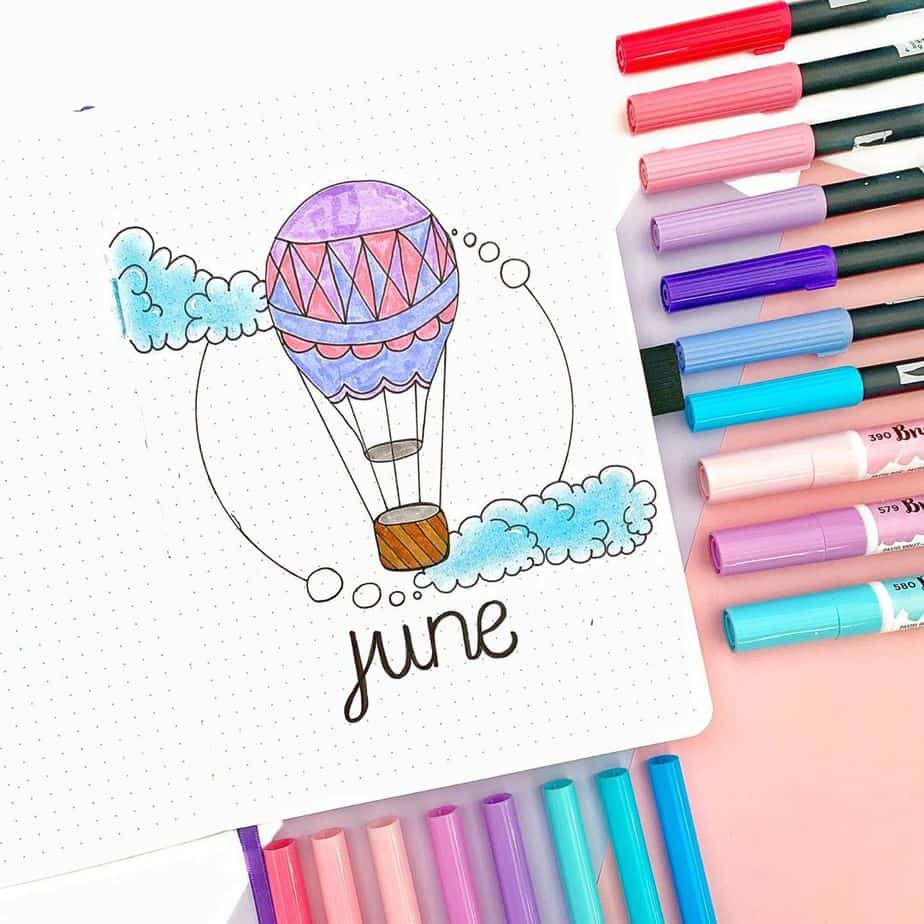 Summer Bullet Journal Theme Ideas - cover page by @bujoabby | Masha Plans