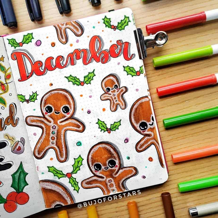 Winter Bullet Journal Theme Ideas - cover page by @bujoforstars | Masha Plans