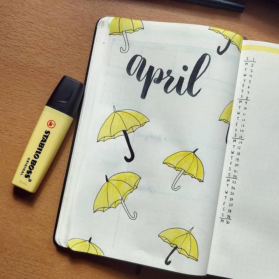 Spring Bullet Journal Theme Ideas - cover page by @bujomaartje | Masha Plans