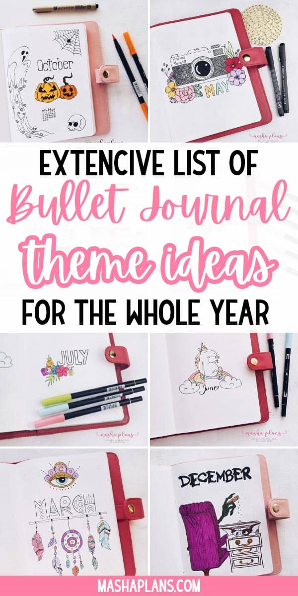 The Ultimate List of Bullet Journal Theme Ideas | Masha Plans