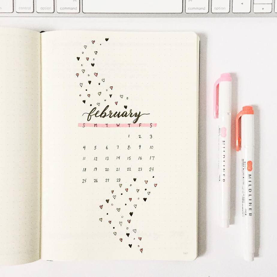 Winter Bullet Journal Theme Ideas - cover page by @dusklovesdawn | Masha Plans
