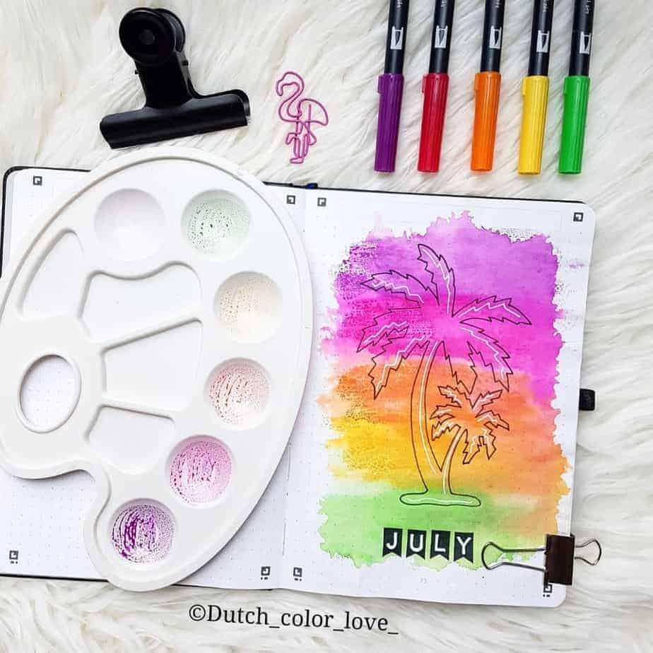 Bullet Journal Theme Ideas - cover page by @dutch_color_love | Masha Plans