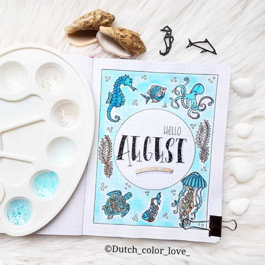 Bullet Journal Theme Ideas - cover page by @dutch_color_love | Masha Plans