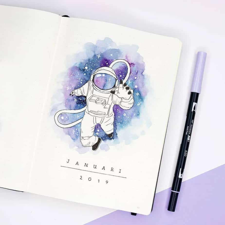 Bullet Journal Theme Ideas - cover page by @dutch_dots | Masha Plans