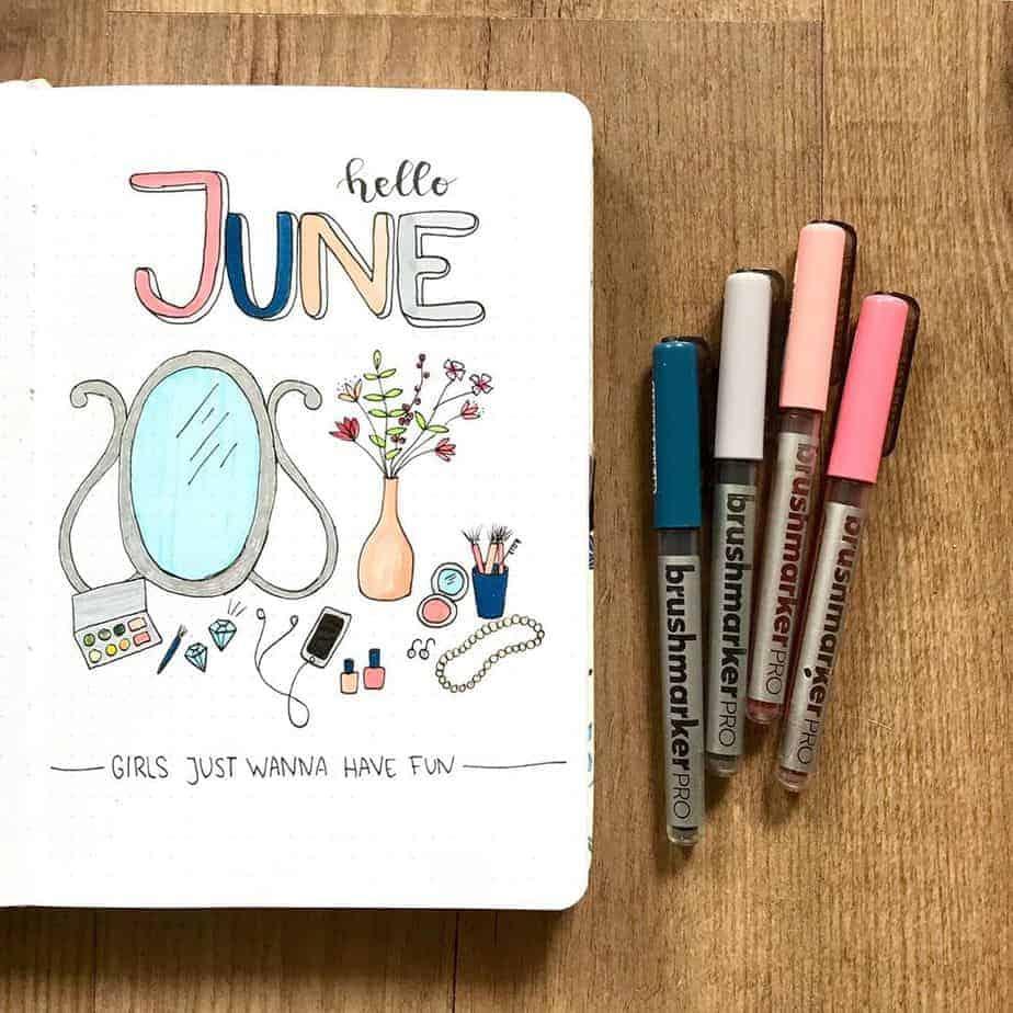 Bullet Journal Theme Ideas - cover spread by @fenkesjournal | Masha Plans