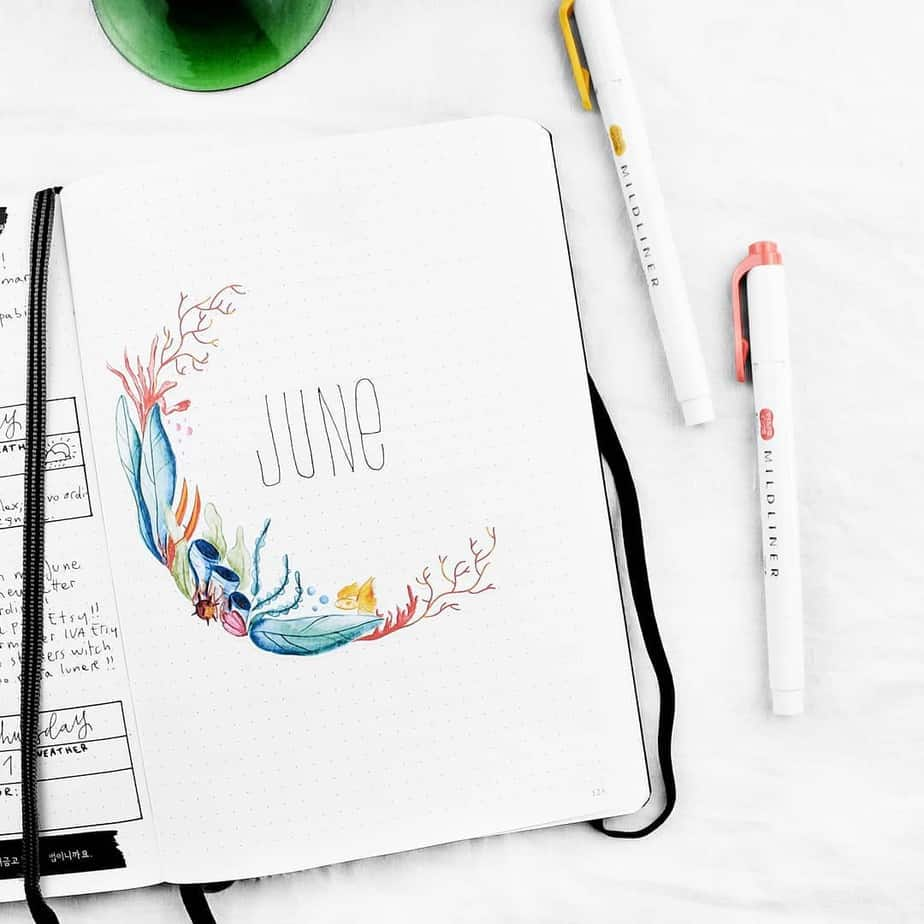 Bullet Journal Theme Ideas - cover page by @frai.oh | Masha Plans
