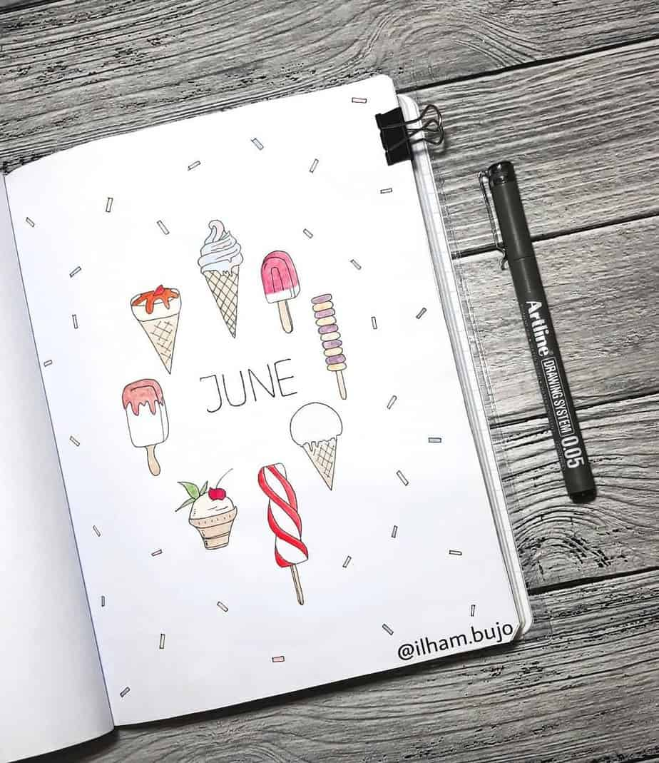 Summer Bullet Journal Theme Ideas - cover page by @ilham.bujo | Masha Plans