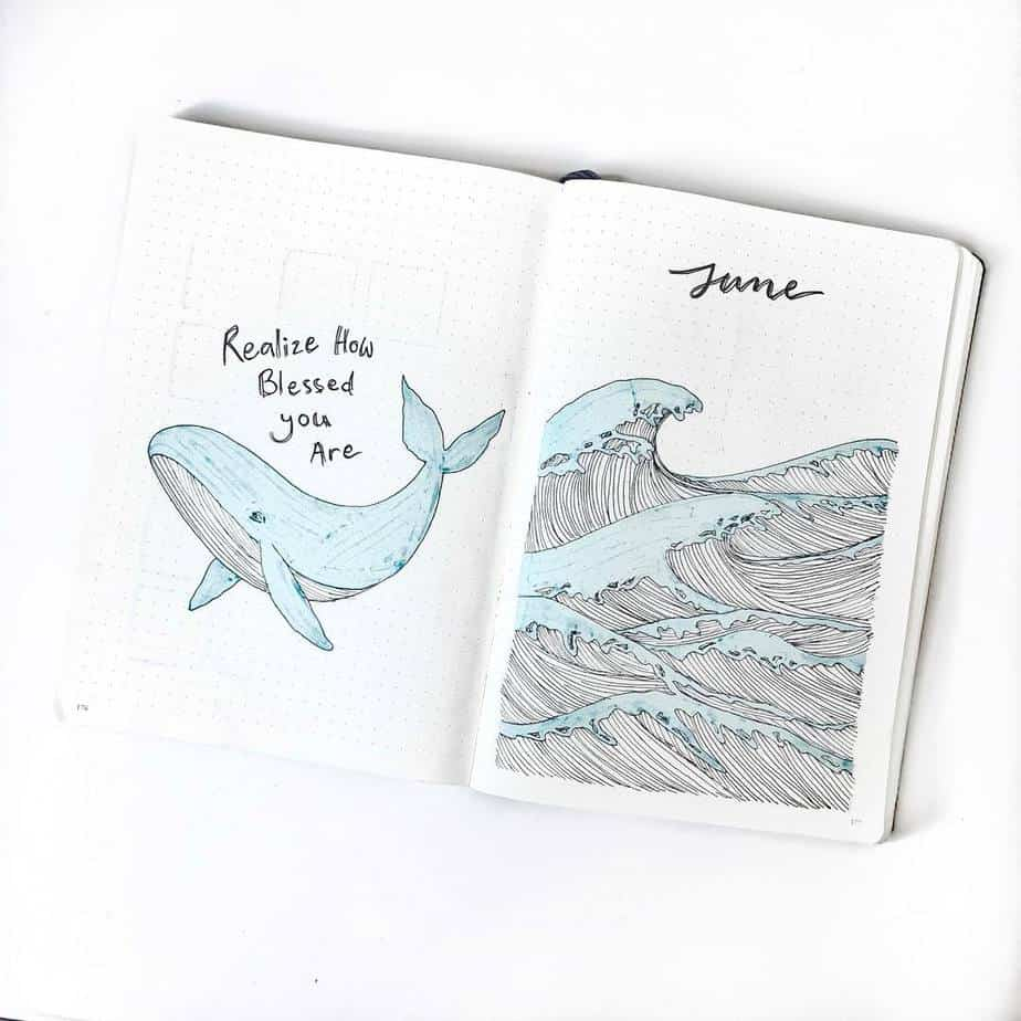 Bullet Journal Theme Ideas - cover page by @love.all.bullet.journal | Masha Plans