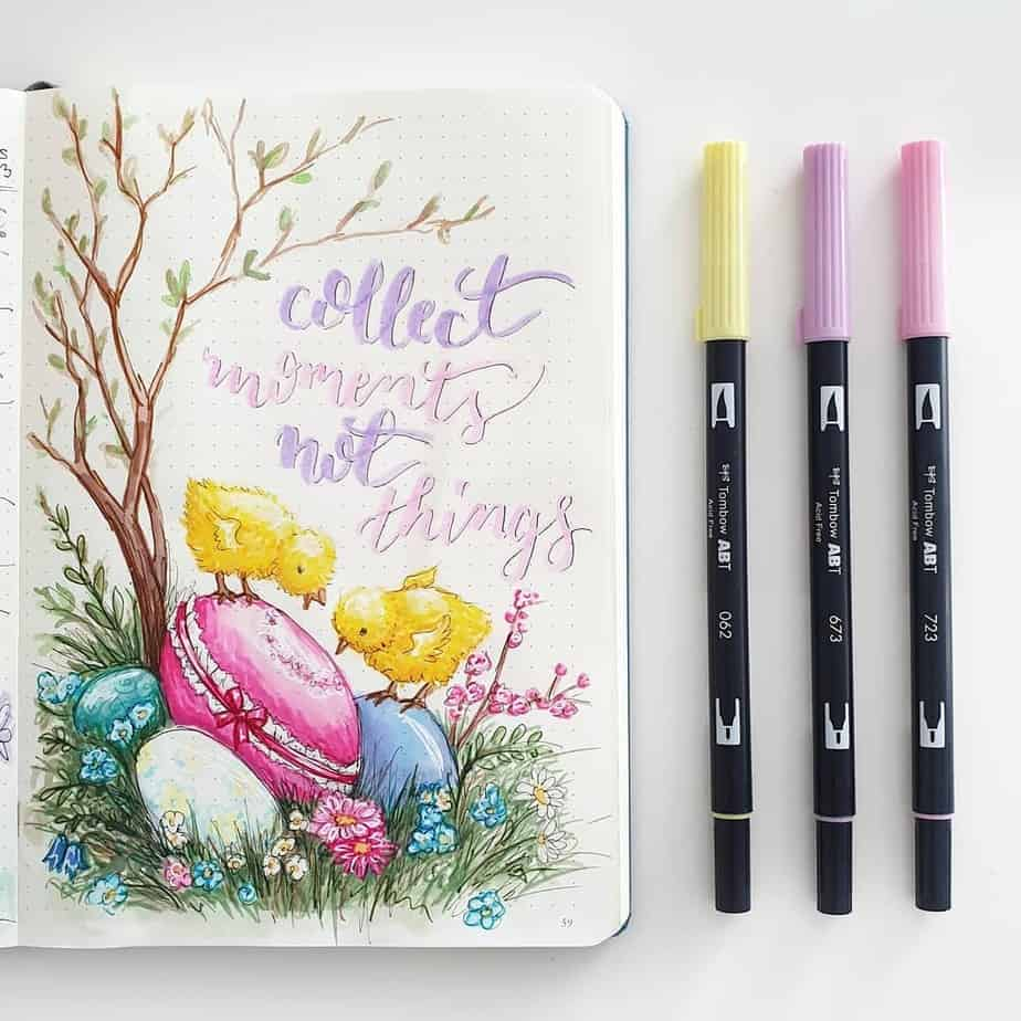 Bullet Journal Theme Ideas - spread by @mint.and.mont.bujo | Masha Plans