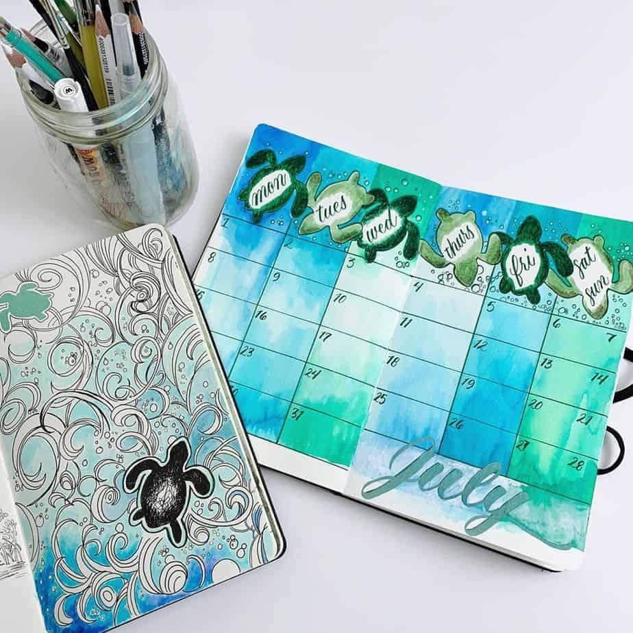 Bullet Journal Theme Ideas - spread by @missybriggs | Masha Plans