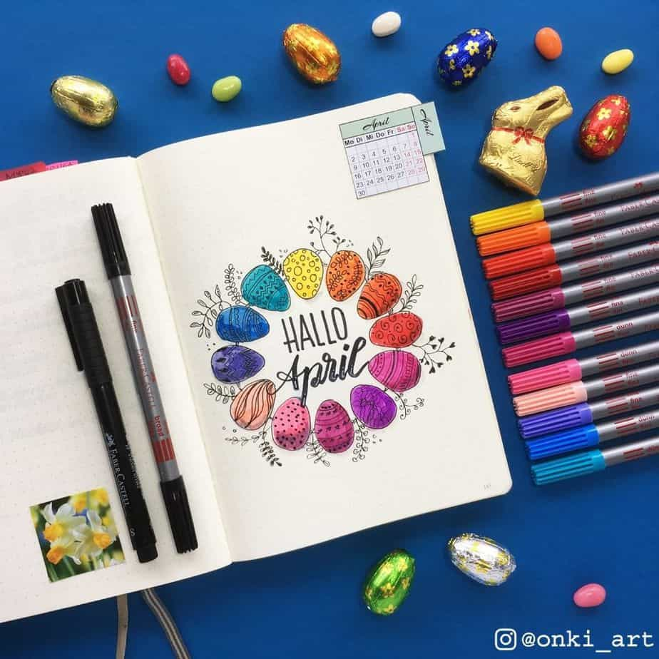 Bullet Journal Theme Ideas - spread by @onki_art | Masha Plans