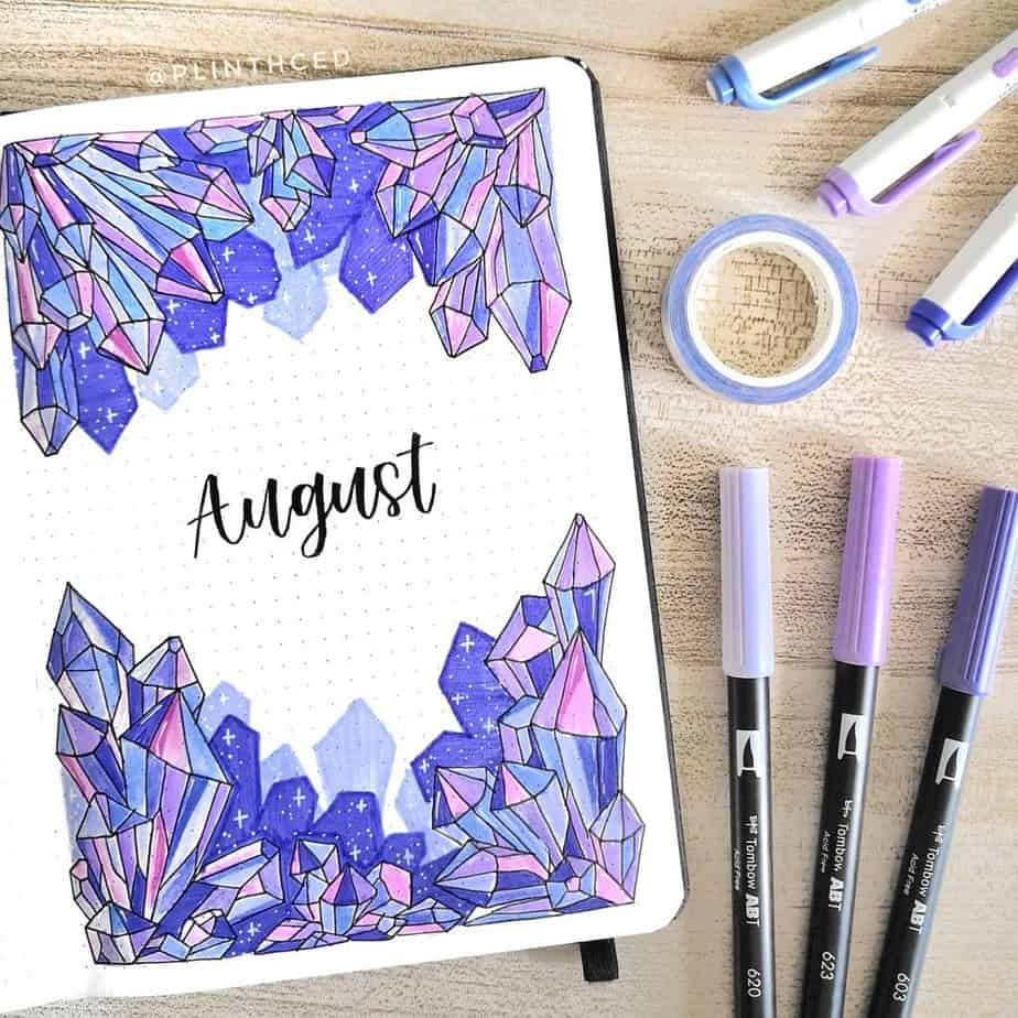Bullet Journal Theme Ideas - cover page by @plinthced | Masha Plans