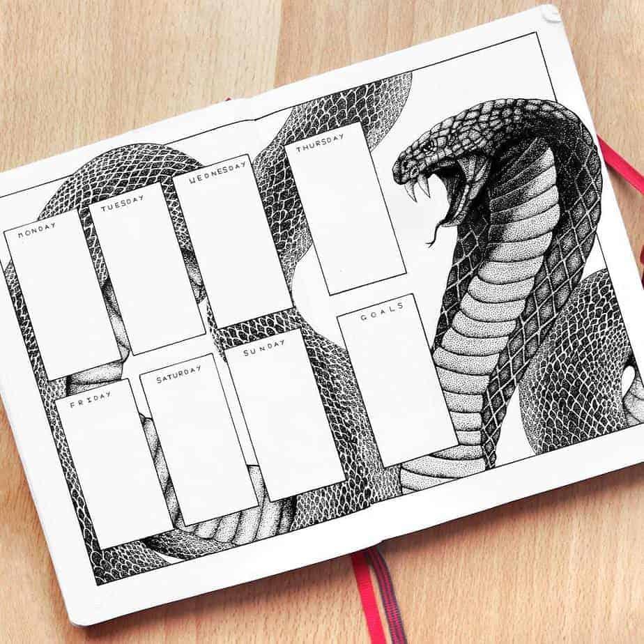 Bullet Journal Theme Ideas - spread by @rachelmayplans | Masha Plans