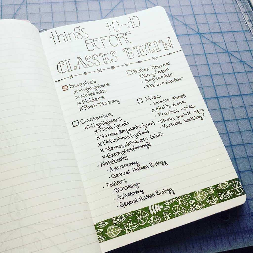 Bullet Journal For School - before the classes spread by @relatablehaley | Masha Plans