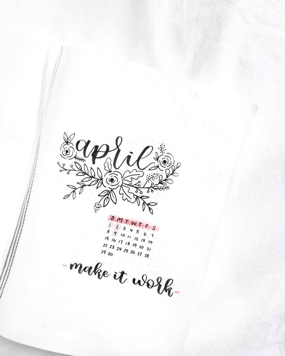Spring Bullet Journal Theme Ideas - cover page by @reyletters | Masha Plans