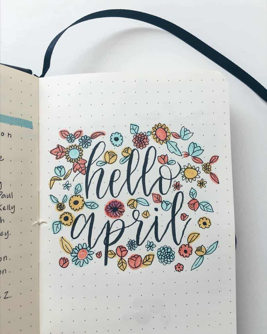 Spring Bullet Journal Theme Inspirations - cover by @tetheredandtold | Masha Plans