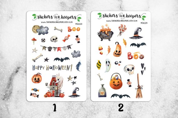 Halloween Bullet Journal Stickers - Etsy Stickers For Keepers
