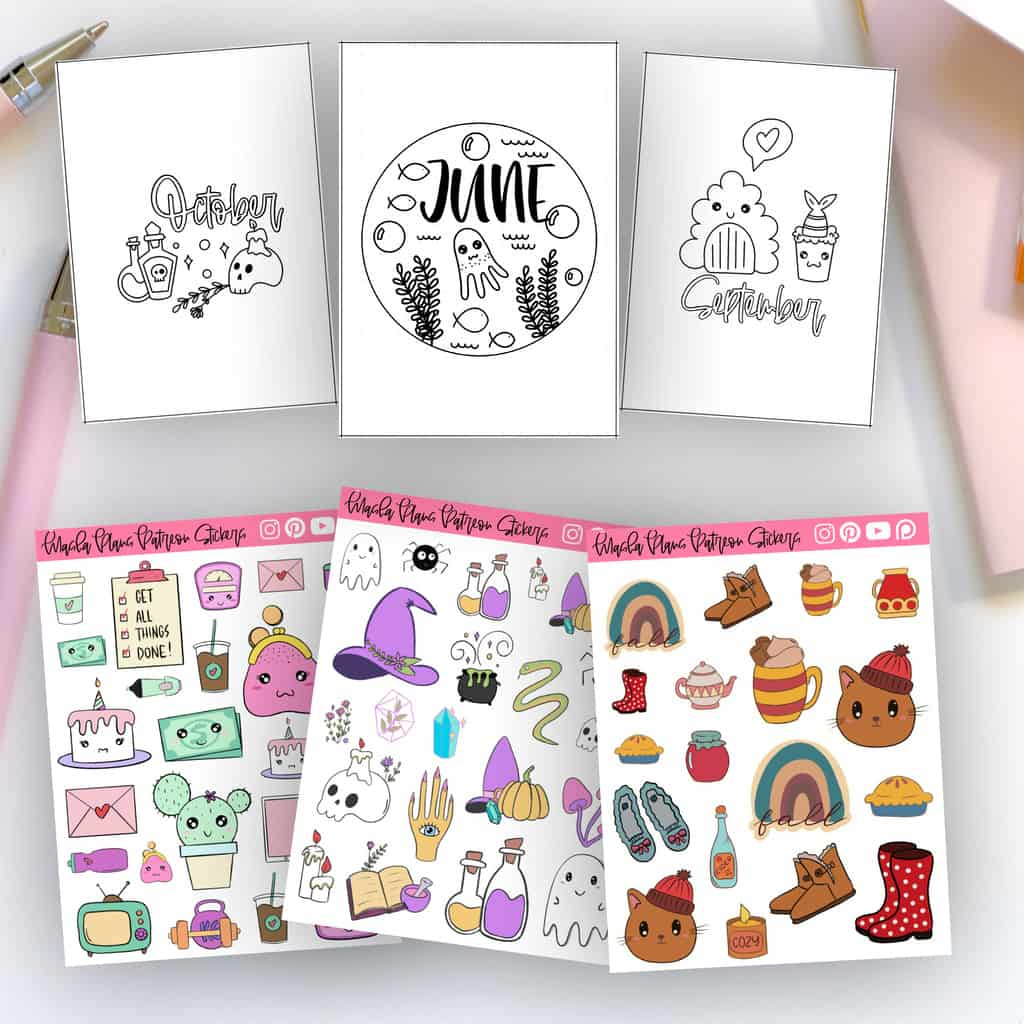 Patreon Rewards - stickers, monthly setup and more | Masha Plans