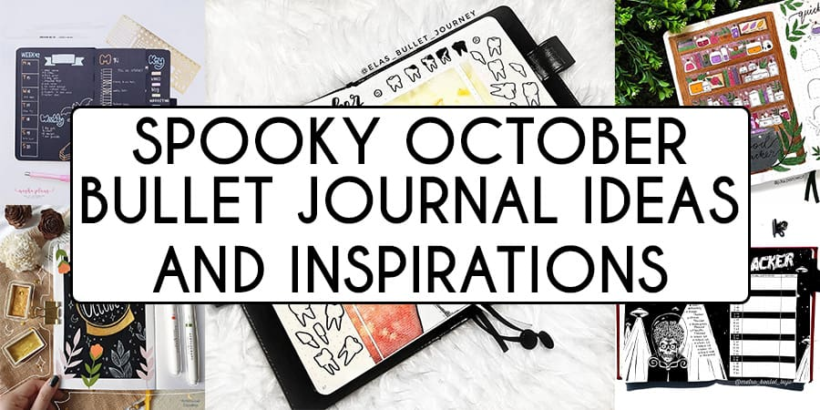 61+ Spooky October Bullet Journal Inspirations and Ideas | Masha Plans