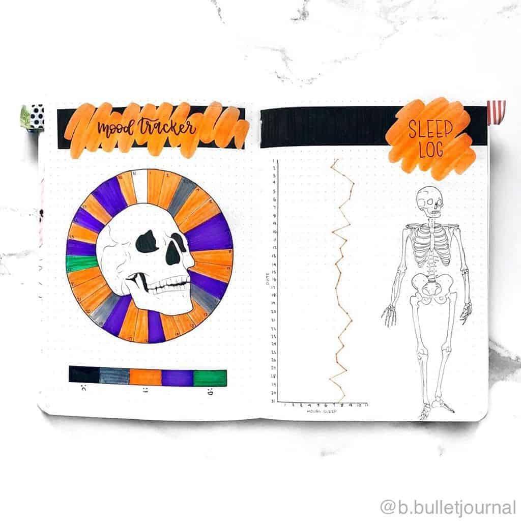 Halloween Bullet Journal Inspirations - habit tracker by @b.bulletjournal | Masha Plans