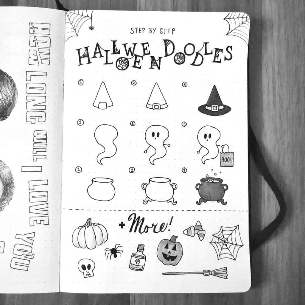 61 Halloween Bullet Journal Inspirations Doodles And Ideasl Masha Plans