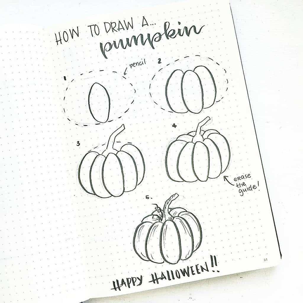 Halloween Bullet Journal Doodles by @bonjournal_ | Masha Plans