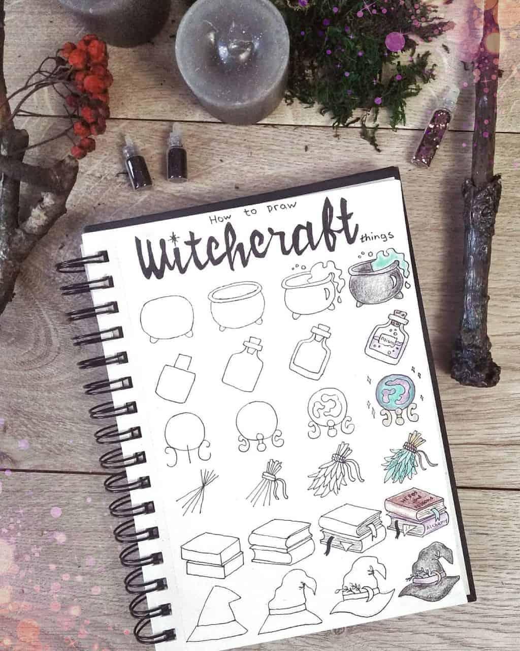 Halloween Bullet Journal Doodles by @ginger.bullet.journal | Masha Plans