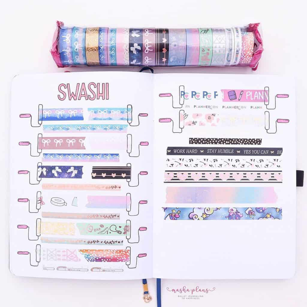 Bullet Journal Washi Tape Collection | Masha Plans