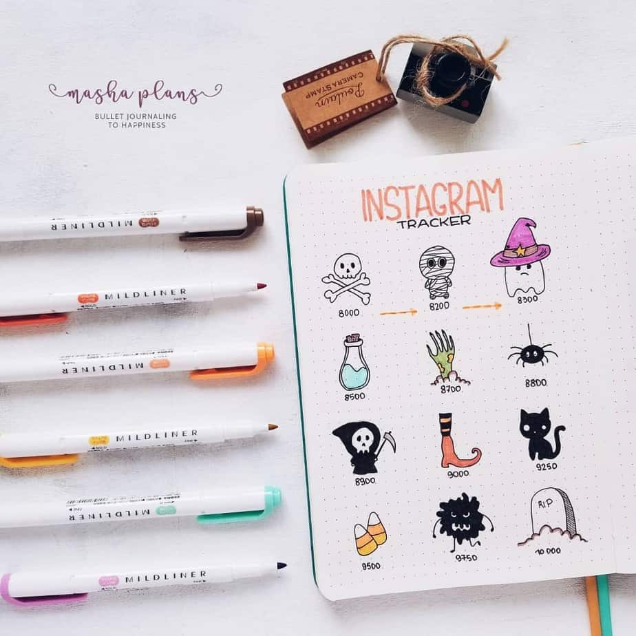 How To Create a Halloween Bullet Journal Theme | Masha Plans