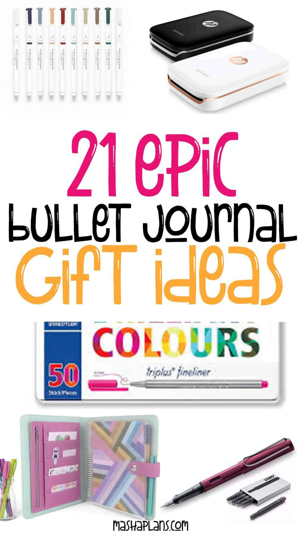 21 Epic Bullet Journal Gift Ideas Anyone Will Love | Masha Plans