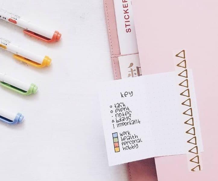 Comprehensive Guide To Bullet Journal Key - flip out key | Masha Plans